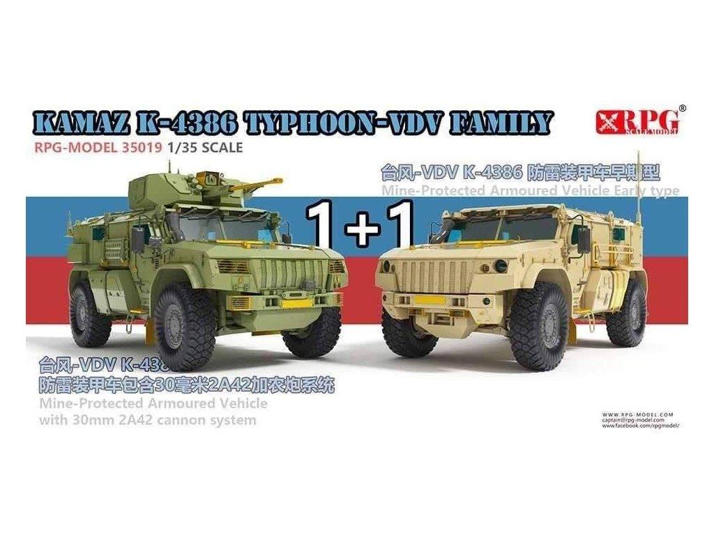 KAMAZ K-4386 Typhoon-VDV Family 1:35