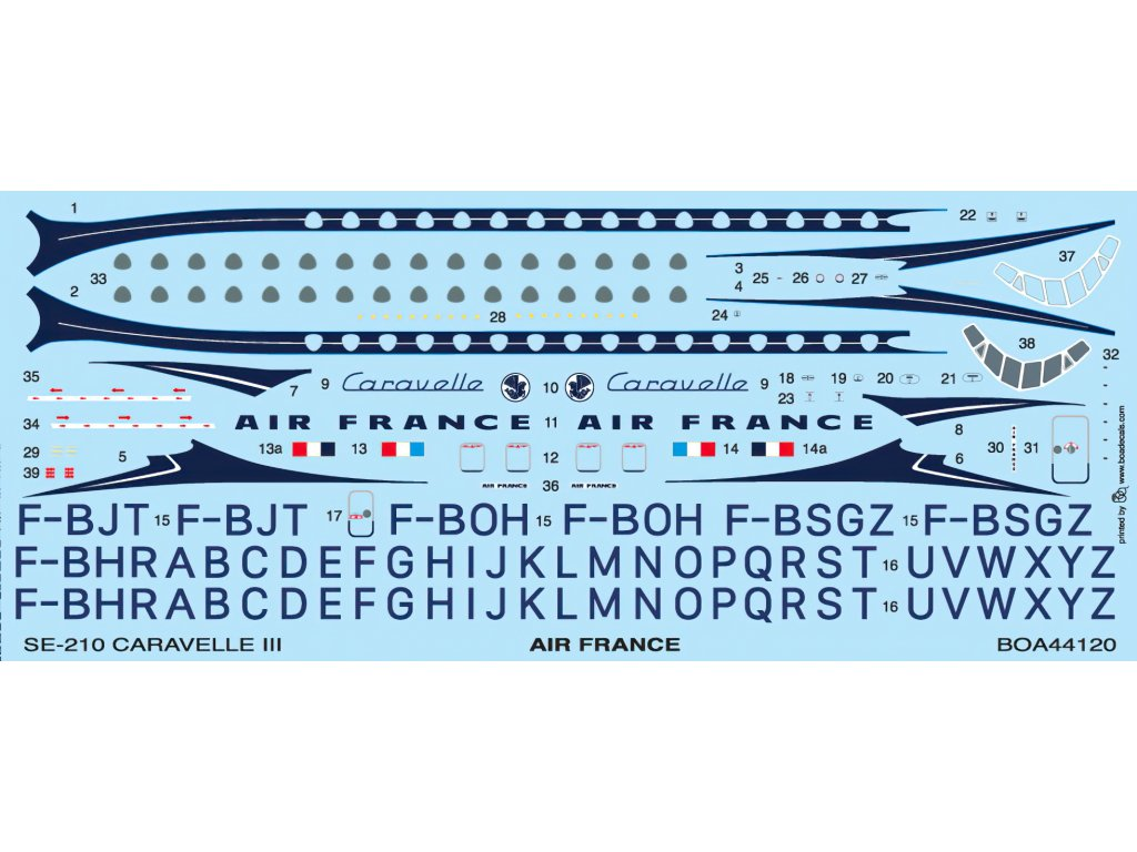 SE-210 Caravelle III Air France 1:144