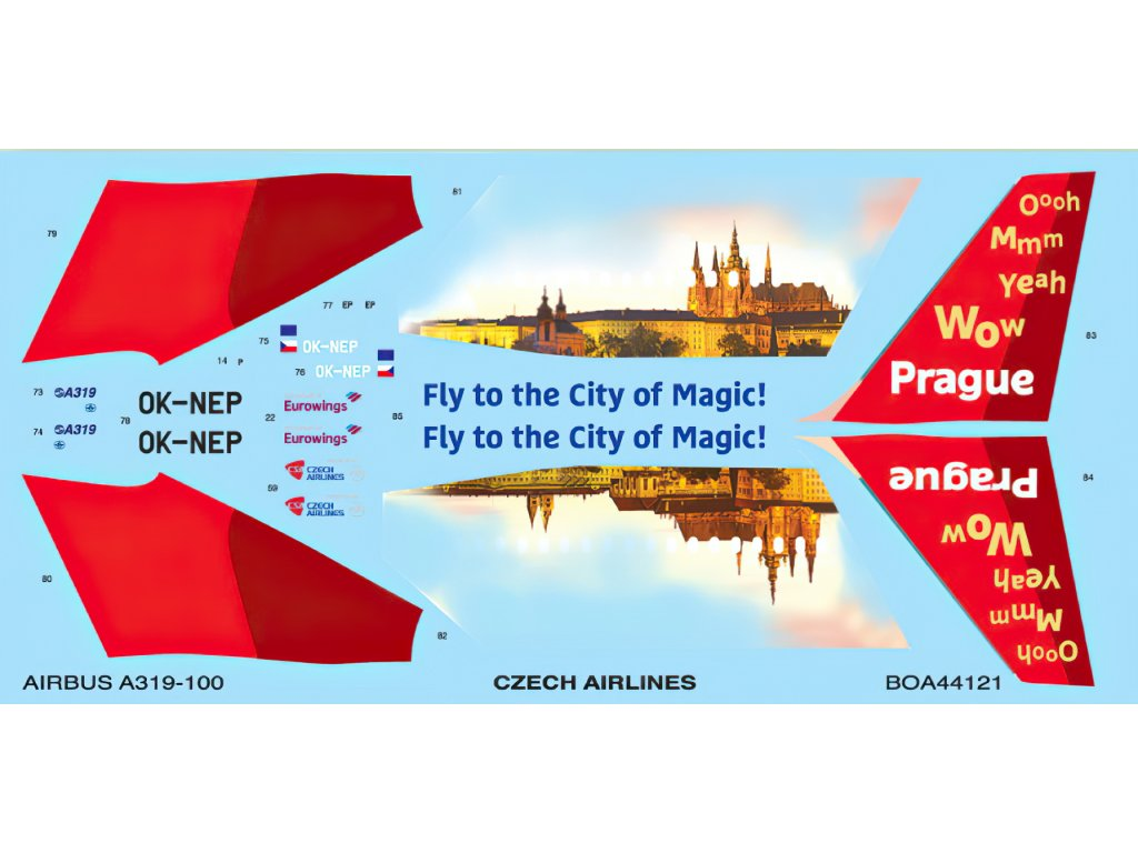 Airbus A319 Czech Airlines (Revell) 1:144