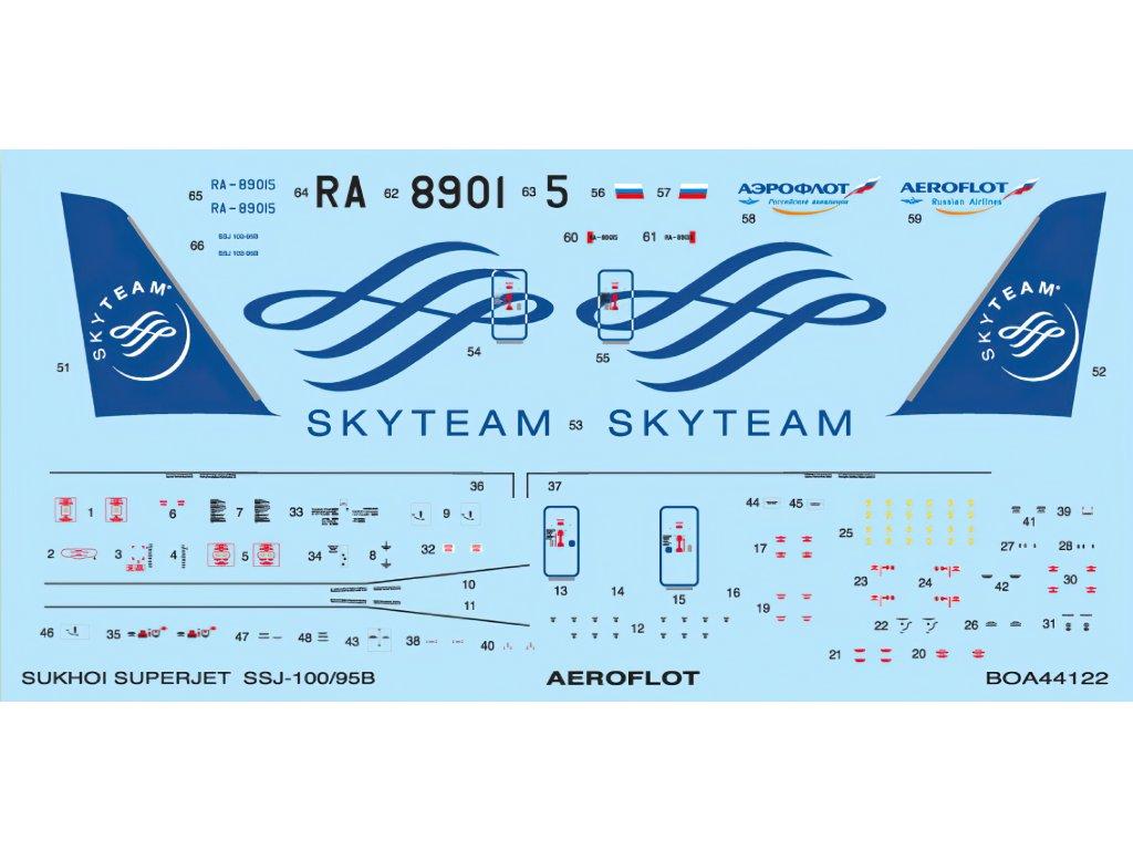 Sukhoi Superjet 100-95B - SkyTeam (Zvezda) 1:144