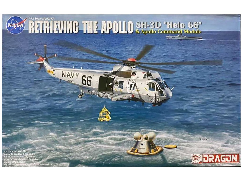 Model Kit vrtulnik 11026 Apollo Recovery SH 3D Helo 66 Apollo Command Module 1 72 a112142099 10374