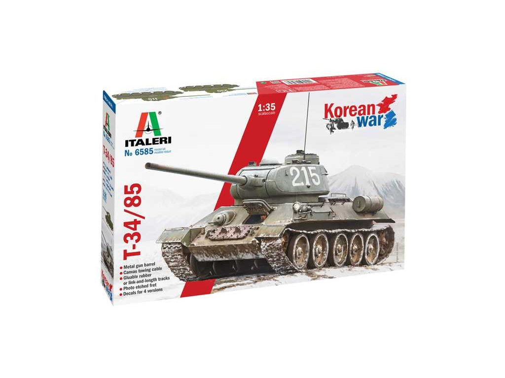 Model Kit tank 6585 T 34 85 Korean War 1 35 a121525816 10374