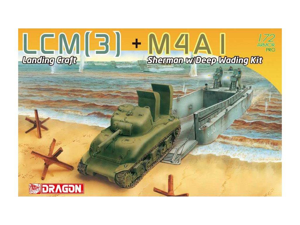 Model Kit military 7516 LCM 3 M4A1 Sherman w Deep Wading Kit 1 72 a113817184 10374