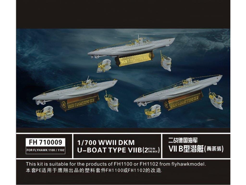 German U-Boat Type VII B 1:700