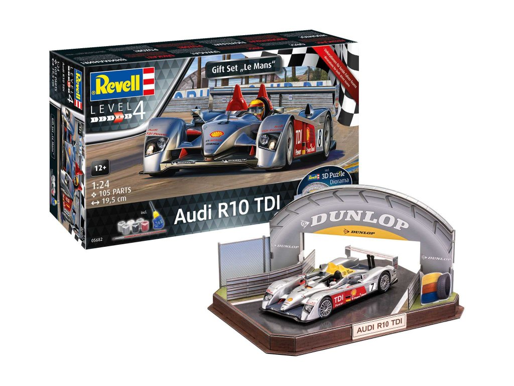 Gift Set diorama 05682 Audi R10 TDI 3D Puzzle LeMans Racetrack 1 24 a109310752 10374
