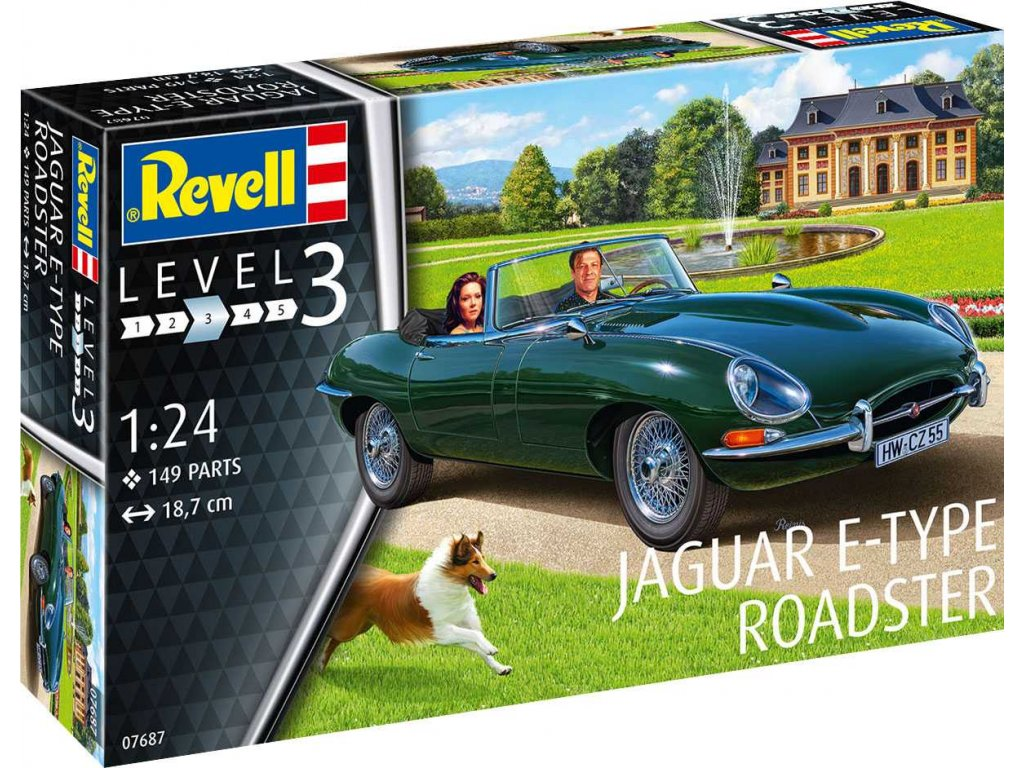 Plastic ModelKit auto 07687 Jaguar E Type Roadster 1 24 a119007352 10374