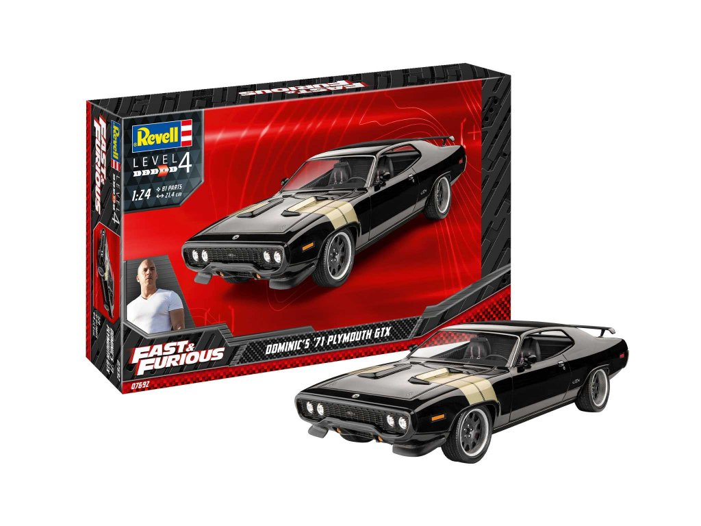 Plastic ModelKit auto 07692 Fast Furious Dominics 1971 Plymouth GTX 1 24 a119007376 10374