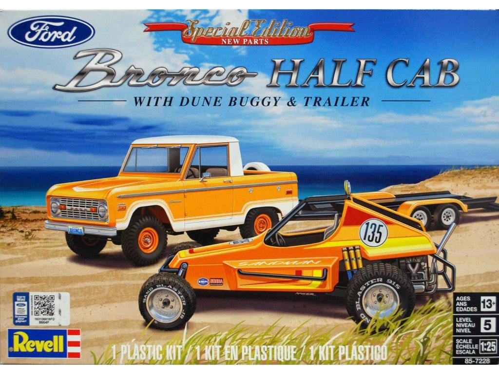 Plastic ModelKit MONOGRAM auto 7228 Ford Bronco Half Cab Sandman II 1 25 a123724356 10374