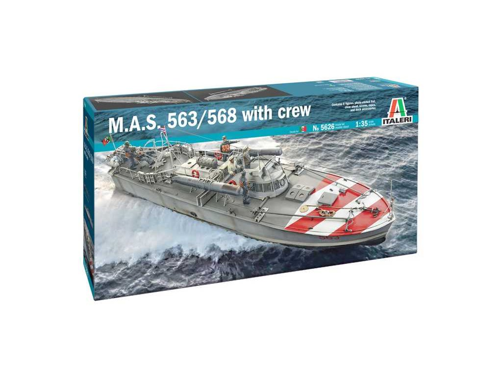 Model Kit lod 5626 M A S 563 568 with crew 1 35 a121731971 10374