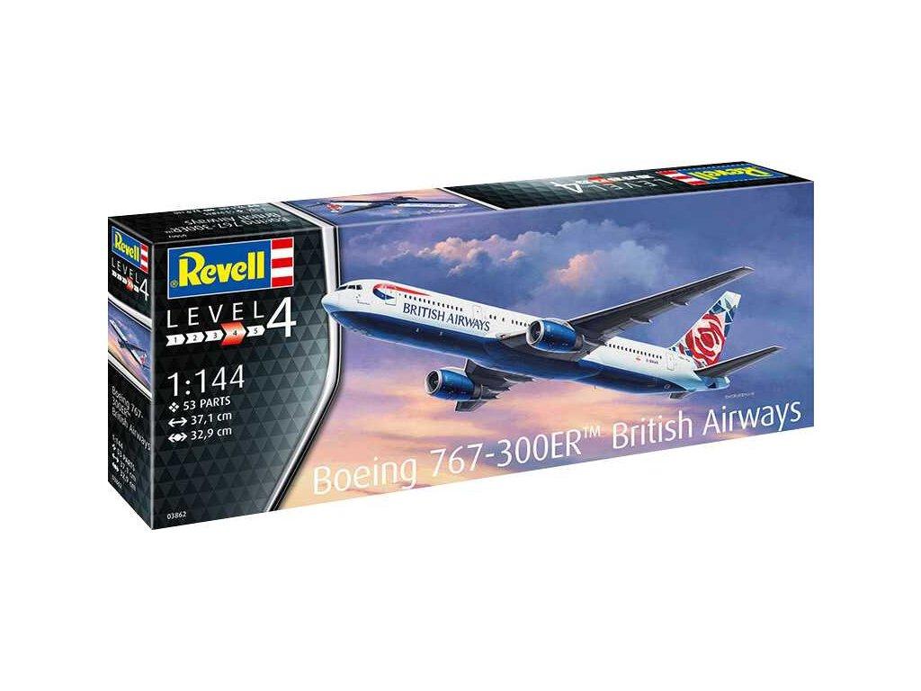 Plastic Modelkit letadlo 03862 Boeing 767 300ER British Airways Chelsea Rose 1 144 a103408525 10374