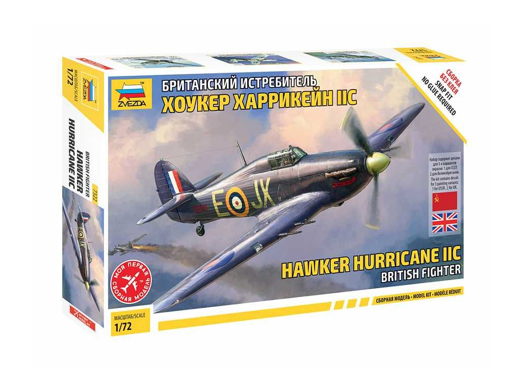 Snap Kit letadlo 7322 Hawker Hurricane Mk II C 1 72 a120129918 10374