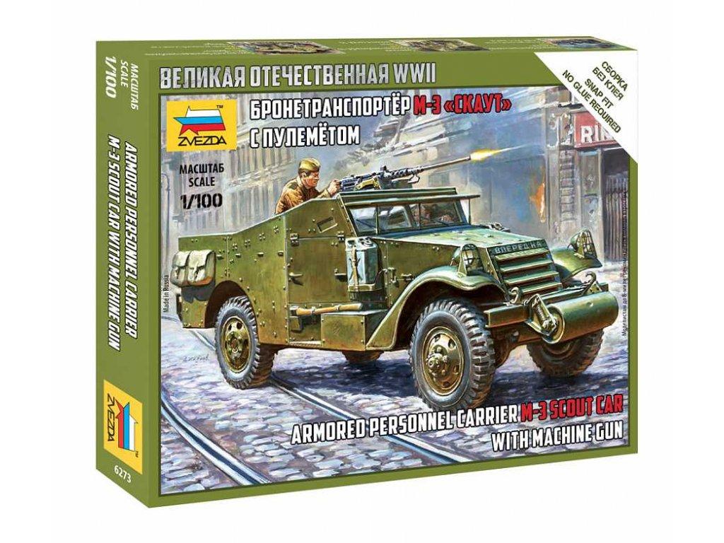 Wargames WWII military 6273 Soviet M 3 Scout Car with Machine Gun 1 100 a120129807 10374