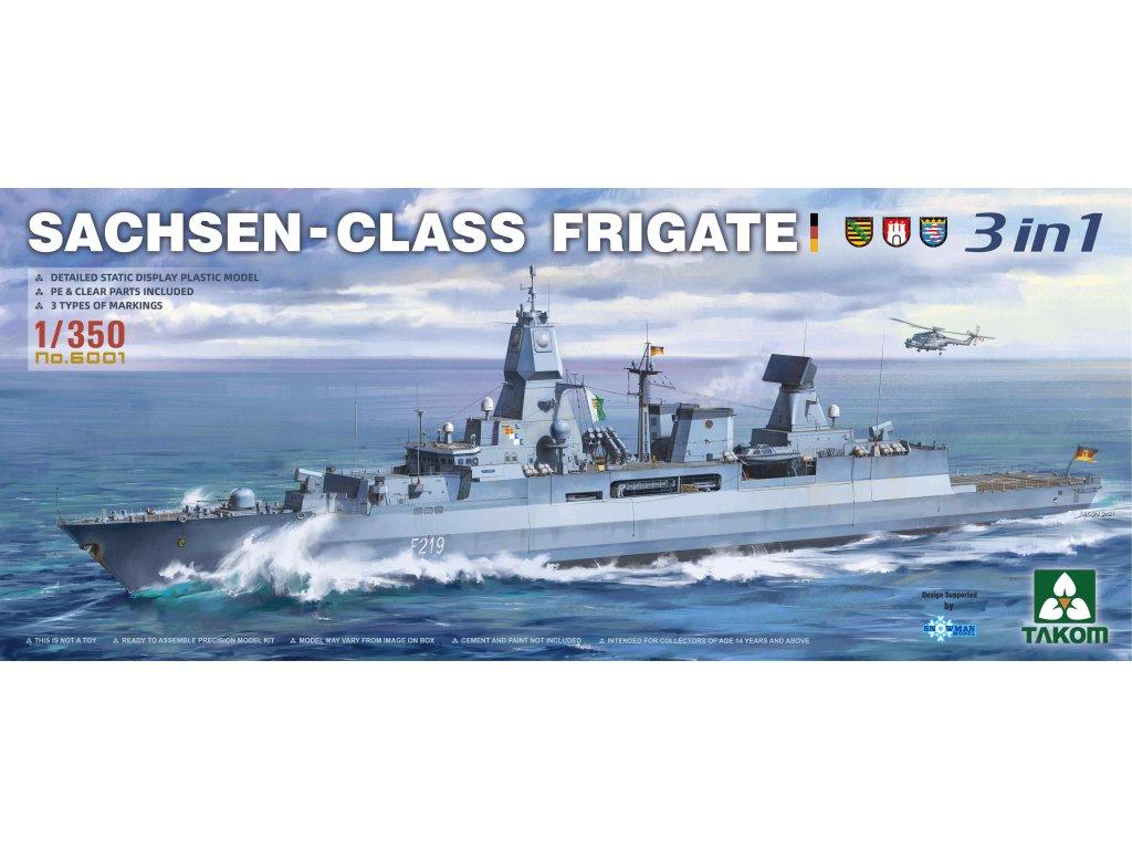 Sachsen-Class Frigate 3 in 1 1:350