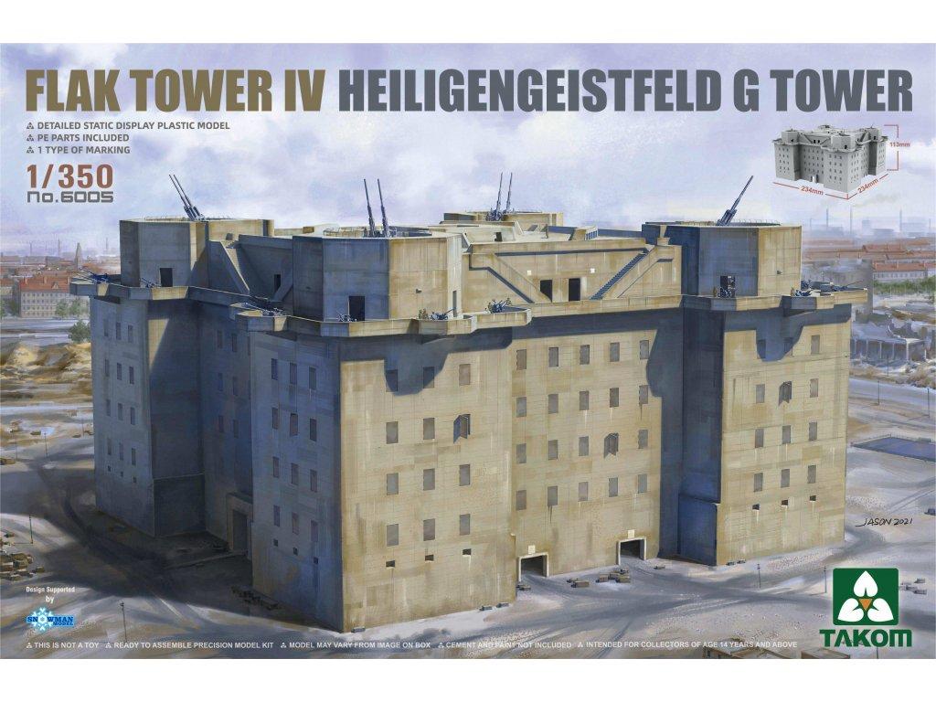 FLAK TOWER IV Heiligengeistfeld Hamburg G Tower 1:350