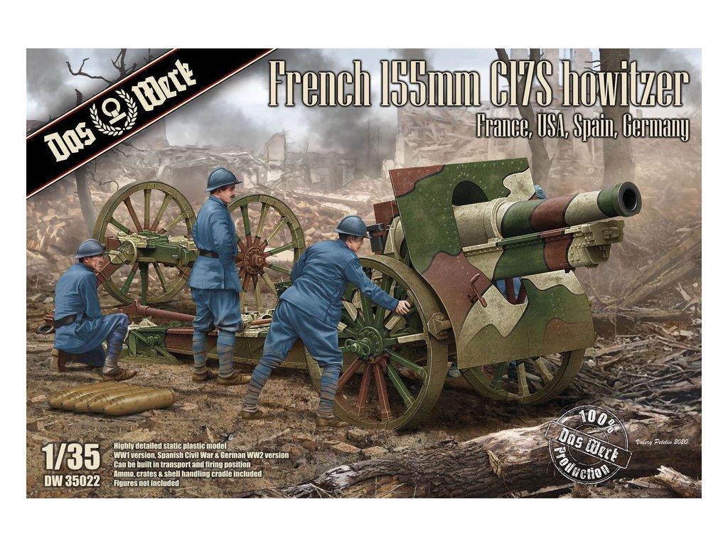 French Schneider 155mm C17S howitzer 1:35
