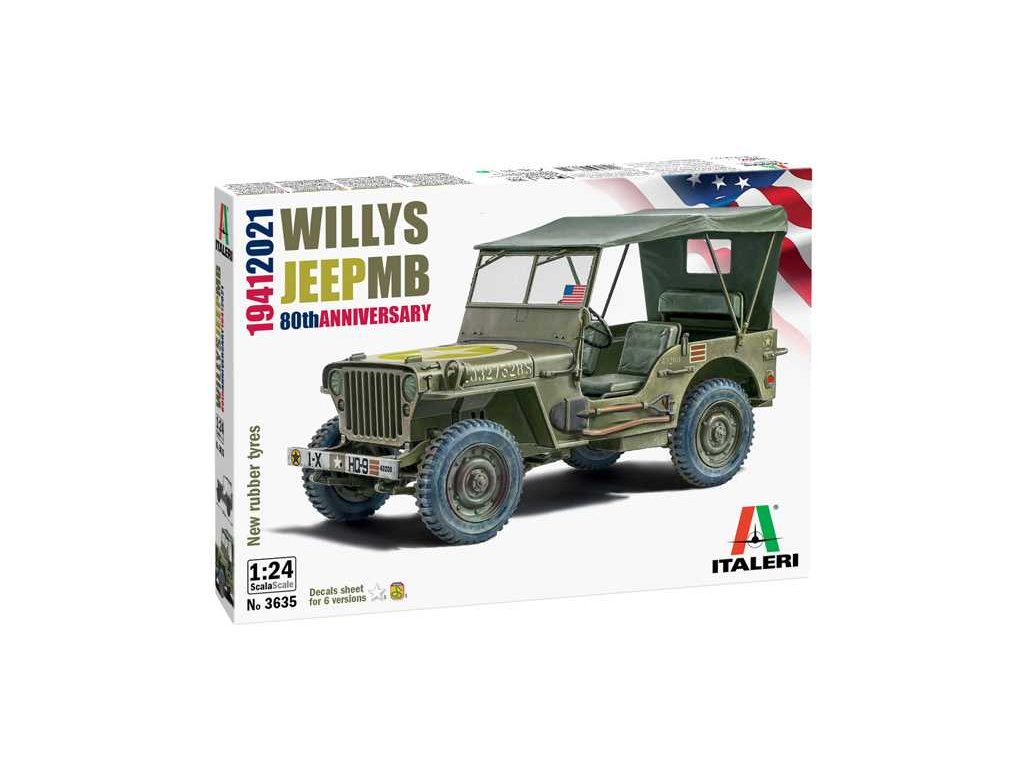 Model Kit auto 3635 Willys Jeep MB 1 24 a110159815 10374