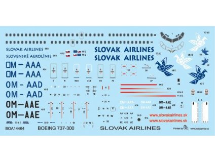 Boeing 737-300 Slovakian Airlines 1:144