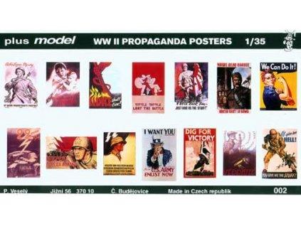 Vojnové plagáty WWII 1. 1:35