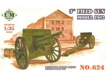 """3"""" field gun Model 1902 1:35"""