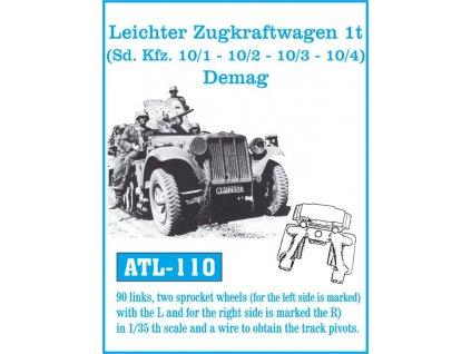 Kov. pásy Leichter Zugtkraftwagen 1t (Sd. Kfz 10/1 - 10/2 - 10/3 - 10/4) Demag 1:35