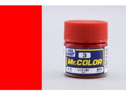 C003 Red - Červená
