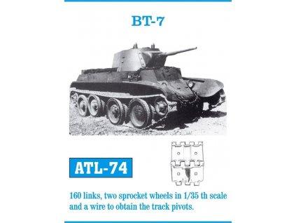 Kovové pásy BT-7 1:35