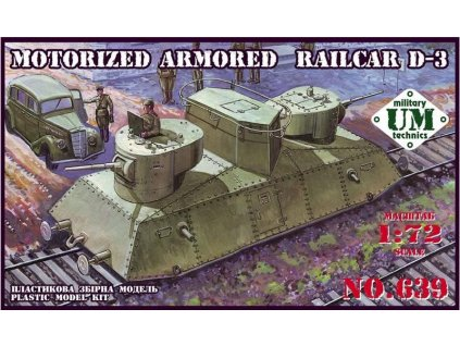 Motorized armored railcar D-3 1:72