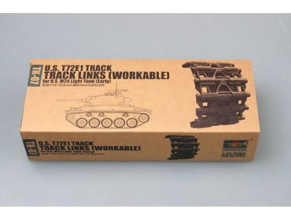 U.S. T72E1 track for M24 light tank (early) 1:35