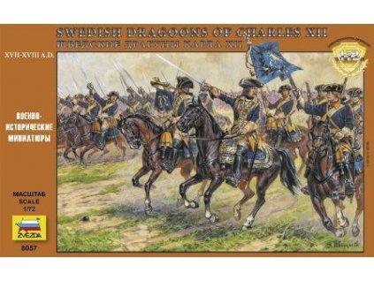 Swedish Dragoons Of Charles XII / Švédska jazda 1:72