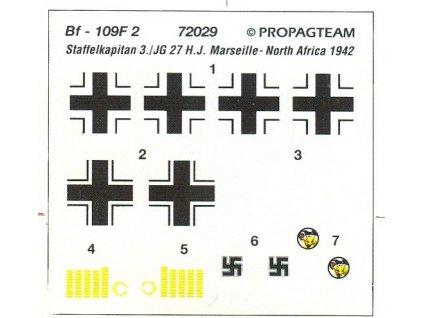 Messerschmitt Bf 109 F - H. J. Marseille 1:72