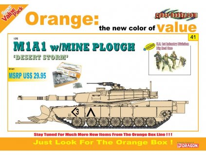 M1A1 w/Mine Plough + 1st Infantry Division Big Red One 1:35