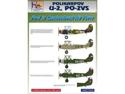 Decals Po-2 in Czechoslovak A.F. (5x camo) 1:72