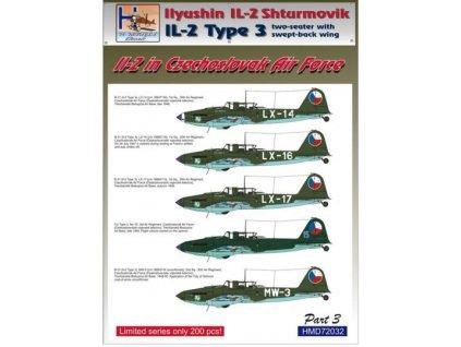Decals IL-2 in Czechoslovak A.F. (5x camo) 1:72