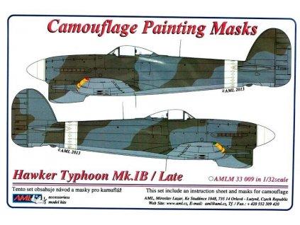 Kamuflažné masky Hawker Typhoon Mk.IB late 1:32