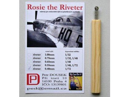 Nitovadlo Rosie the Riveter 0.40mm (1/72)