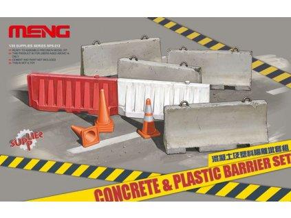Betónové a plastové bariéry - set 1:35