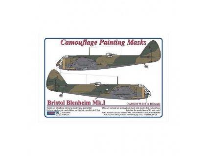 Bristol Blenheim Mk.I mask (Airfix) 1:72