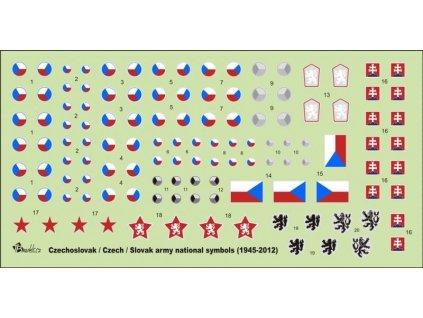 Czechoslovak / Czech / Slovak Army national  symbols (1945 - 2012)  1/35 1:35