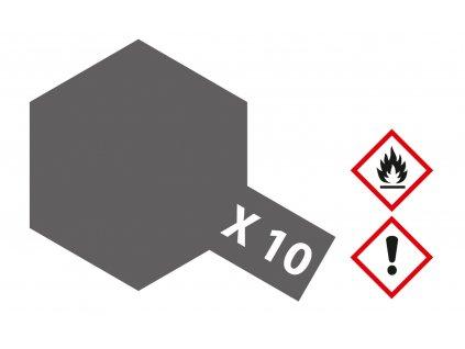X-10 Gun metal gloss / Delovina lesklá 23ml