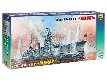 Marat Soviet WWII Battleship 1:350