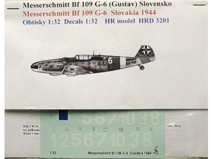 Decals Bf 109 G-6 (Slovakia 1944) 1:32