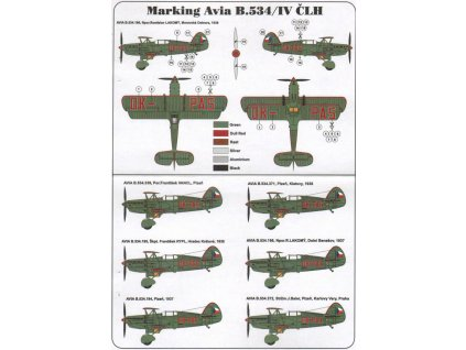 Obtlačky pre Avia B.534/IV četnícke letecké hliadky 1:72