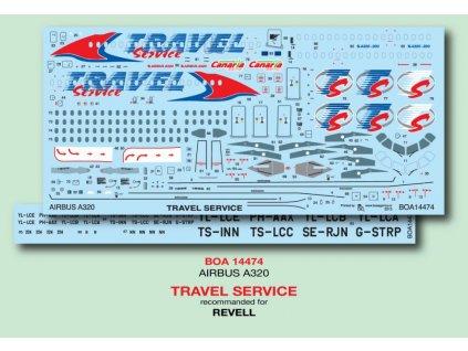 Obtlačky pre Airbus A320 Travel Service (Revell) 1:144