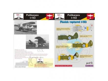 Obtlačky pre Polikarpov I-153 Rata - Finnish captured I-153 (Part 4) 1:48