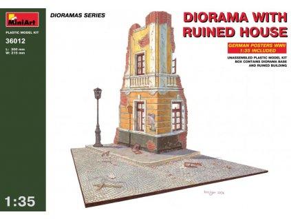 Dioráma s ruinou domu 1:35