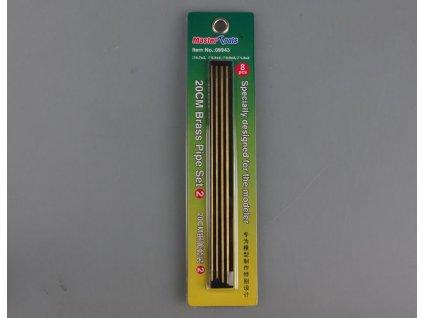 Mosadzné rúrky 20cm Set 2