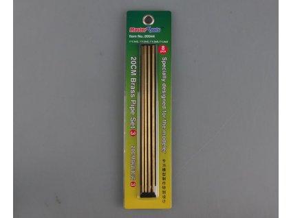 Mosadzné rúrky 20cm Set 3