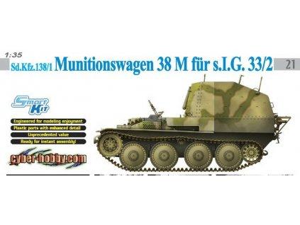 Sd.Kfz.138/1 Munitionswagen 38 M für s.I.G.33/2 1:35