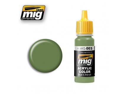 RAL 6011 Resedagrun / Rezedová zelená