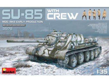 SU-85 Mod. 1943 s posádkou 1:35